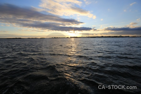 Sunrise sunset europe water sea.