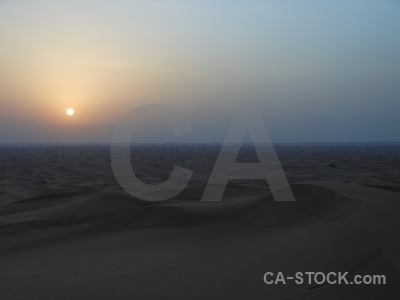 Sunrise sunset western asia sand middle east.