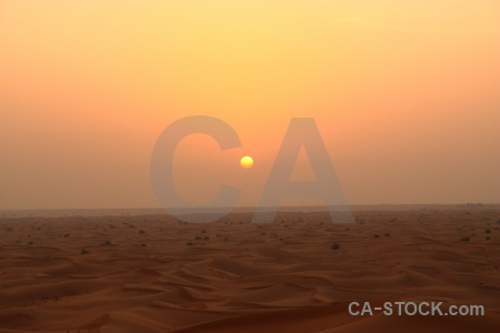 Sunrise western asia sand desert middle east.