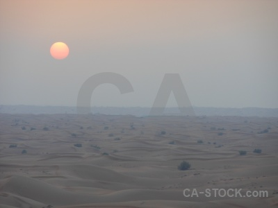 Sunset dune sand sun desert.