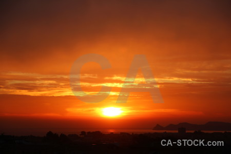 Sunset javea cloud orange sky.