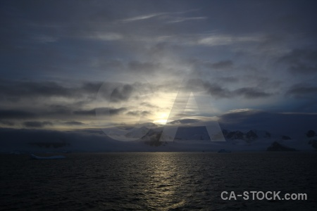Sunset mountain sky antarctica cruise snow.