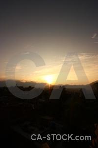 Sunset nepal kathmandu asia cloud.