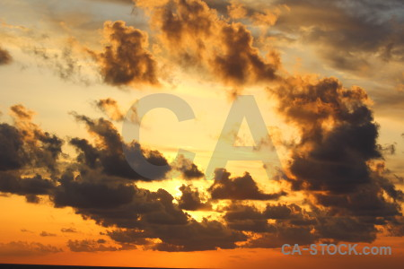 Sunset orange sunrise spain europe.