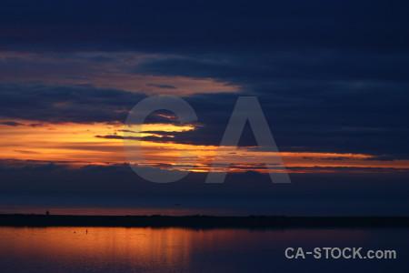 Sunset sky blue orange sunrise.
