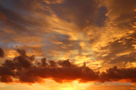 Sunset sky cloud javea europe.