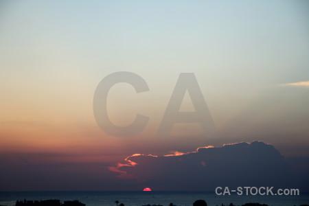 Sunset sky europe spain cloud.