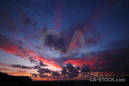 Sunset sunrise sky blue purple.