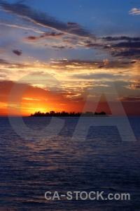 Sunset sunrise uruguay water rio del la plata.