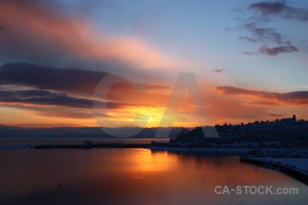 Sunset sunrise yellow cloud orange.