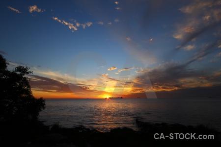 Sunset water rio del la plata sunrise south america.