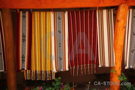 Table cloth material cachi south america argentina.
