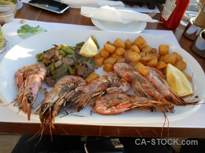 Table grill javea prawn food.
