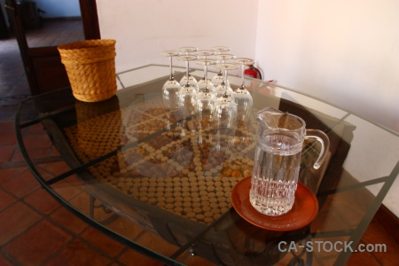 Table jug cafayate argentina south america.