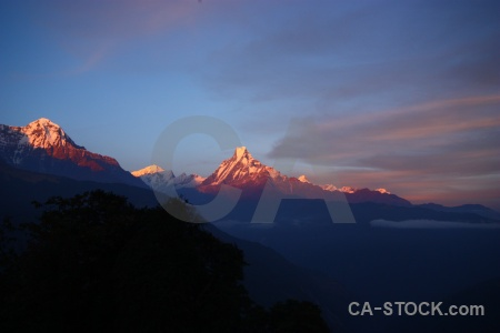 Tadapani nepal landscape sunrise valley.