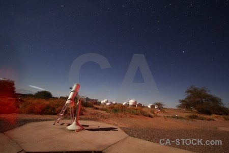 Telescope atacama desert observatory chile landscape.