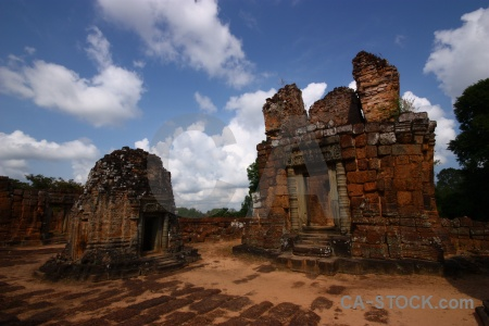 Temple buddhism asia eastern mebon brick.