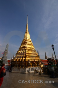 Temple of the emerald buddha person thailand asia wat phra si rattana satsadaram.
