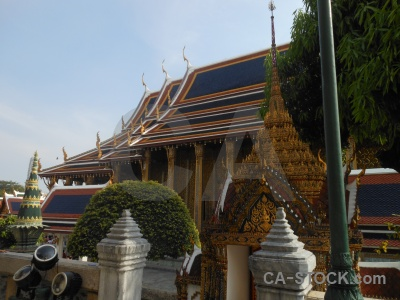 Temple of the emerald buddha sky bangkok southeast asia wat phra kaeo.