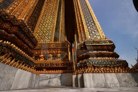 Temple of the emerald buddha thailand bangkok column wat phra si rattana satsadaram.