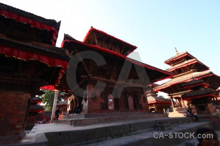 Temple pagoda building south asia wood.
