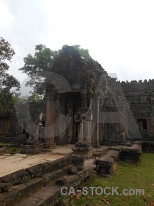 Temple preah khan block carving khmer.