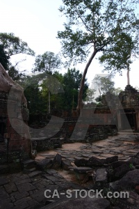 Temple preah khan sky cambodia angkor.