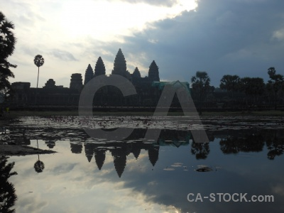 Temple reflection water southeast asia buddhist.