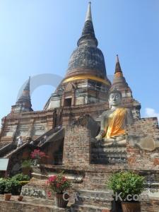 Temple sky unesco southeast asia step.