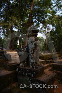 Temple southeast asia ruin siem reap lichen.