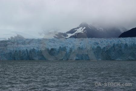 Terminus mountain glacier argentina cloud.