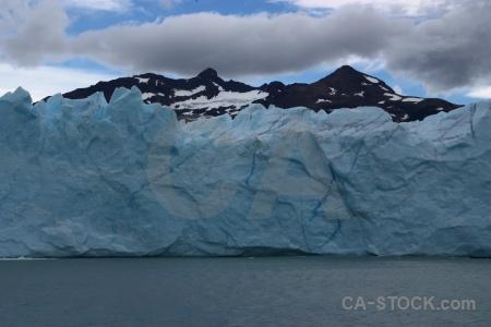 Terminus mountain lake argentino south america.