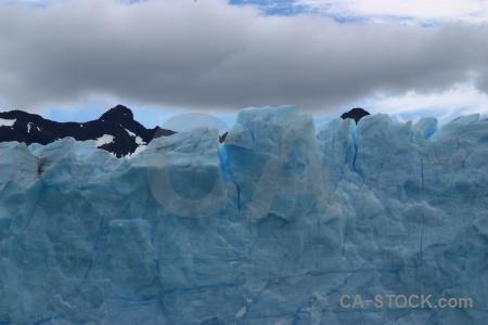 Terminus perito moreno ice mountain sky.