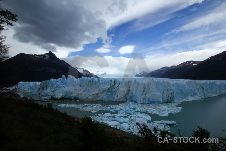 Terminus south america cloud perito moreno glacier.