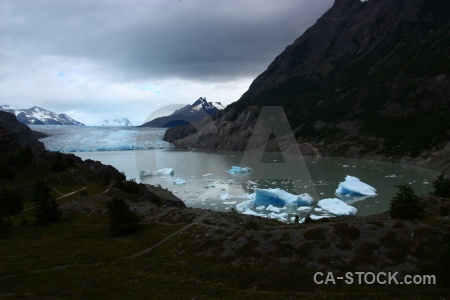 Terminus water glacier grey chile lago.