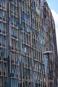 Texture blue building.