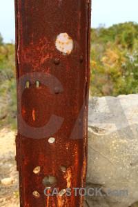Texture orange rust red.