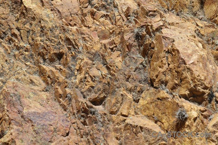 Texture rock andes colca canyon altitude.