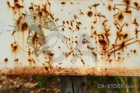 Texture sign orange rust brown.