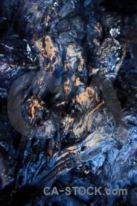 Texture volcanic lava blue rock.