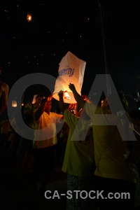 Thailand bangkok festival full moon flame.