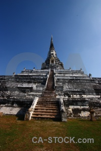 Thailand building chedi phukhao thong sky buddhism.