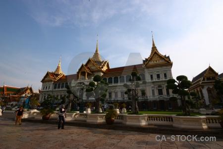 Thailand chakri maha prasat ornate southeast asia person.