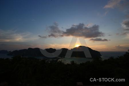 Thailand cloud bay loh dalam island.