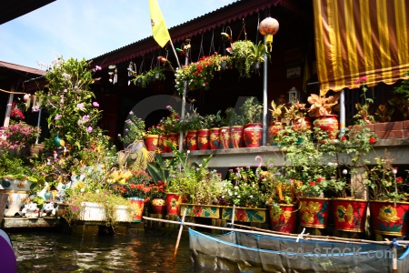 Thailand floating plant southeast asia building.