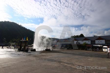 Thailand hot spring sky bo nam ron southeast asia.