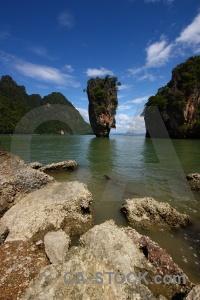 Thailand island phang nga bay sea asia.