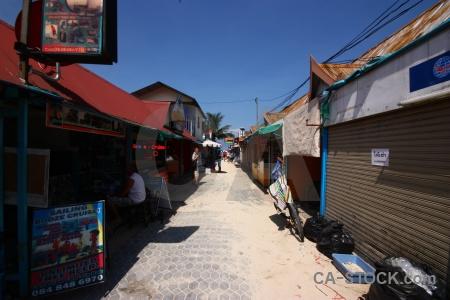 Thailand island village southeast asia sky.
