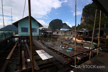 Thailand ko panyi tropical bamboo phang nga bay.