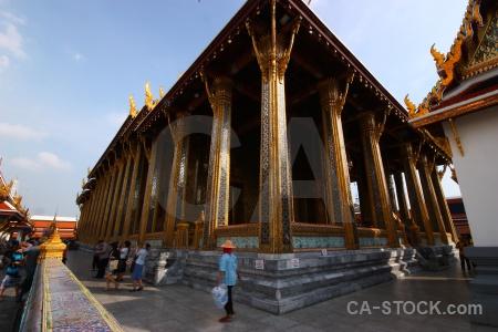Thailand ornate wat phra si rattana satsadaram temple of the emerald buddha bangkok.